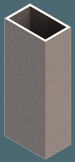 алюминиевая труба фасадная для вентфасада